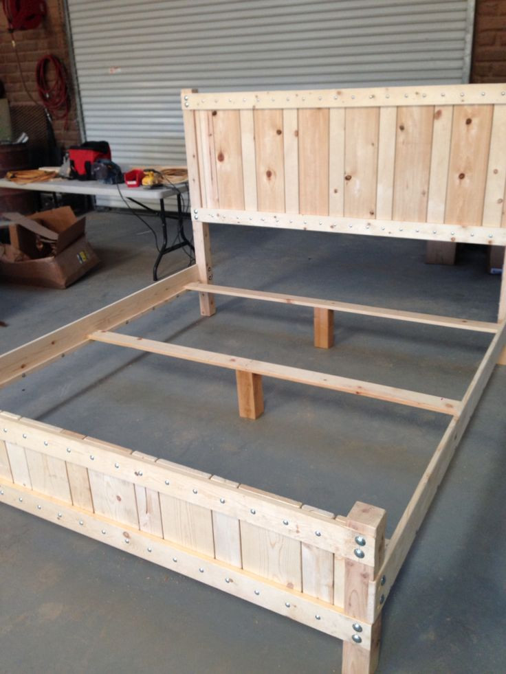 Best ideas about King Size Bed Frame DIY . Save or Pin Best 25 Diy king bed frame ideas on Pinterest Now.