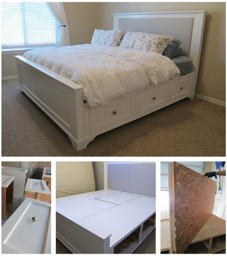 Best ideas about King Size Bed Frame DIY . Save or Pin 36 Easy DIY Bed Frame Projects to Upgrade Your Bedroom Now.