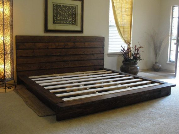 Best ideas about King Size Bed Frame DIY . Save or Pin King Rustic Platform Bed Maybe DIY Now.