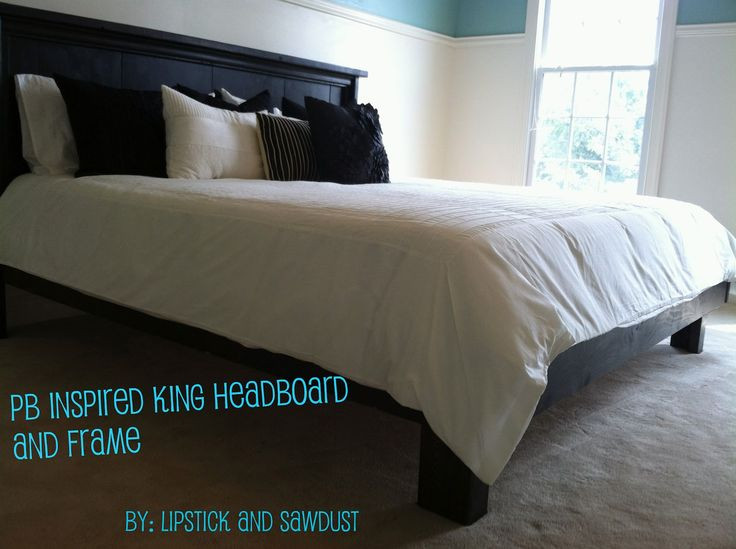 Best ideas about King Size Bed Frame DIY . Save or Pin 46 best DIY King Bed Frame & Headboard images on Pinterest Now.