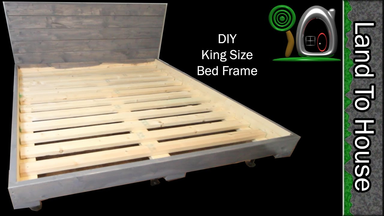 Best ideas about King Size Bed Frame DIY . Save or Pin DIY King Size Bed Frame Now.