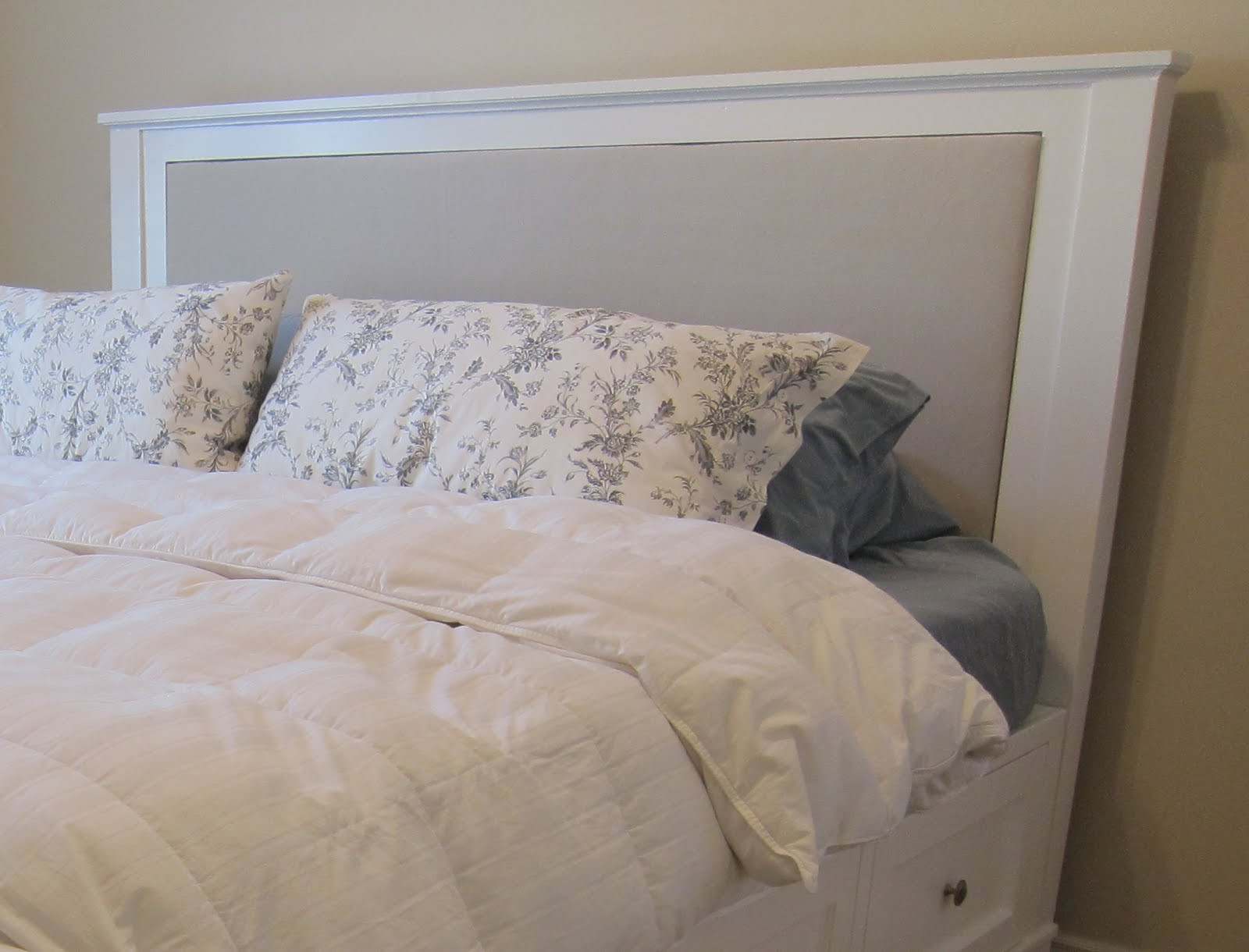 Best ideas about King Size Bed Frame DIY . Save or Pin DIY King Size Bed Frame Part 4 Headboard and Finished Now.