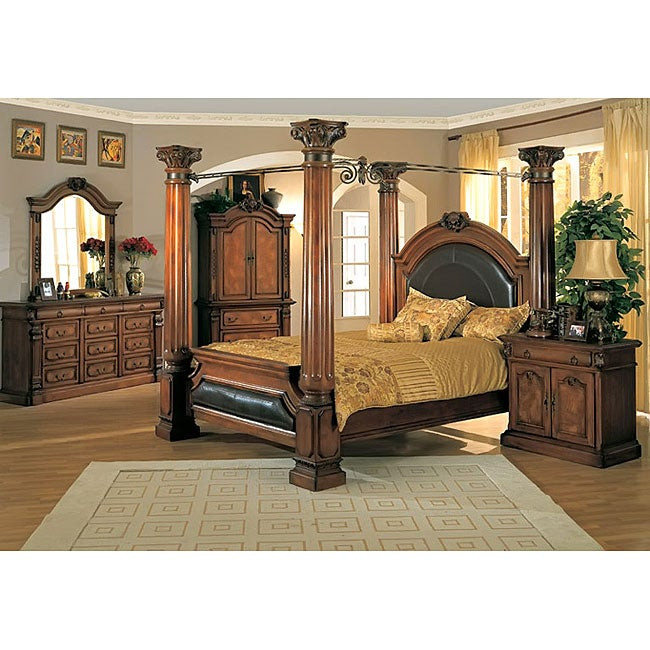 Best ideas about King Size Bedroom Sets . Save or Pin Classic Canopy Poster King size 4 Piece Bedroom Set Now.