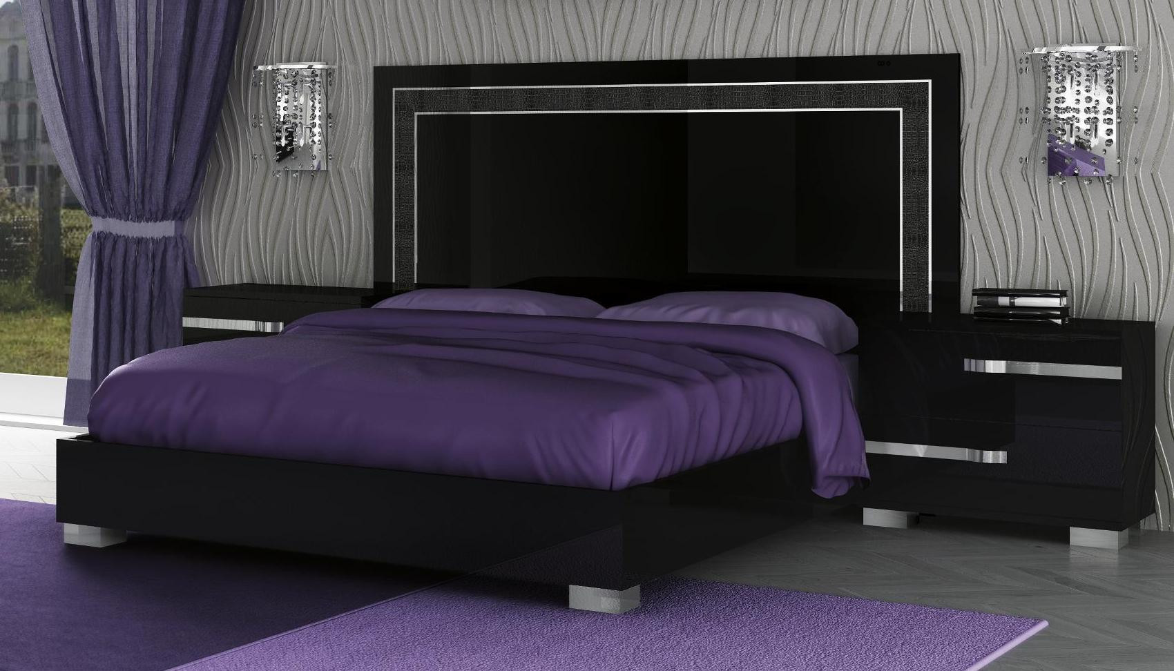Best ideas about King Size Bedroom Sets . Save or Pin VOLARE KING SIZE MODERN BLACK BEDROOM SET 5PC MADE IN Now.