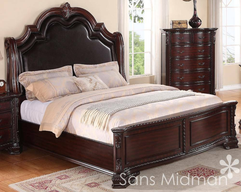 Best ideas about King Size Bedroom Sets . Save or Pin King Size 3 pc Sheridan Collection Traditional Cherry Now.