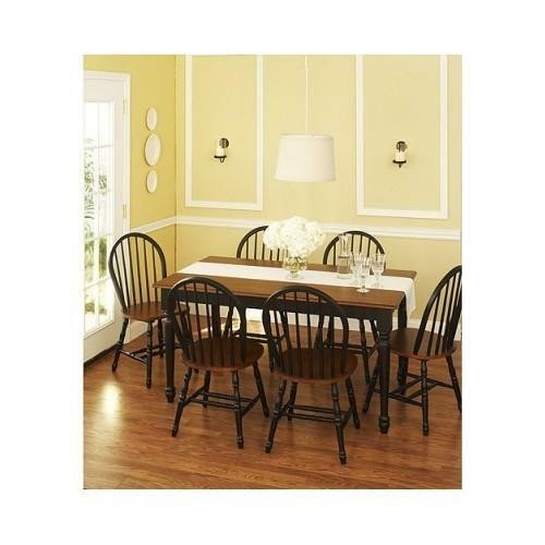 Best ideas about Kitchen & Dining . Save or Pin NEW 7 Piece Dining Set Black & Oak Chair Table Kitchen Now.