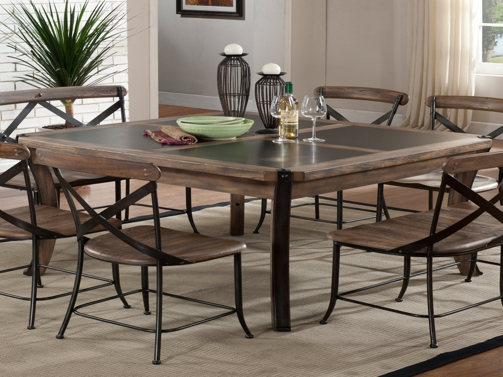 Best ideas about Kitchen & Dining . Save or Pin Wood Metal Dining Table Kitchen Room Tables At Hayneedle Ideas Now.
