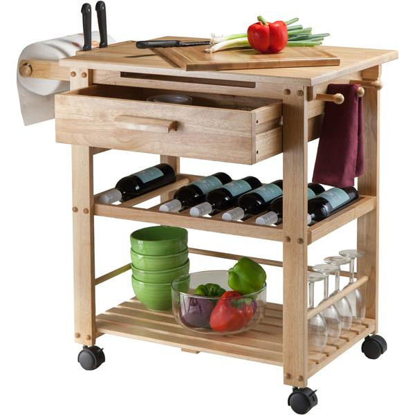 Best ideas about Kitchen Cart With Wine Rack . Save or Pin Winsome Finland Portable Kitchen Cart with Wine Rack Now.