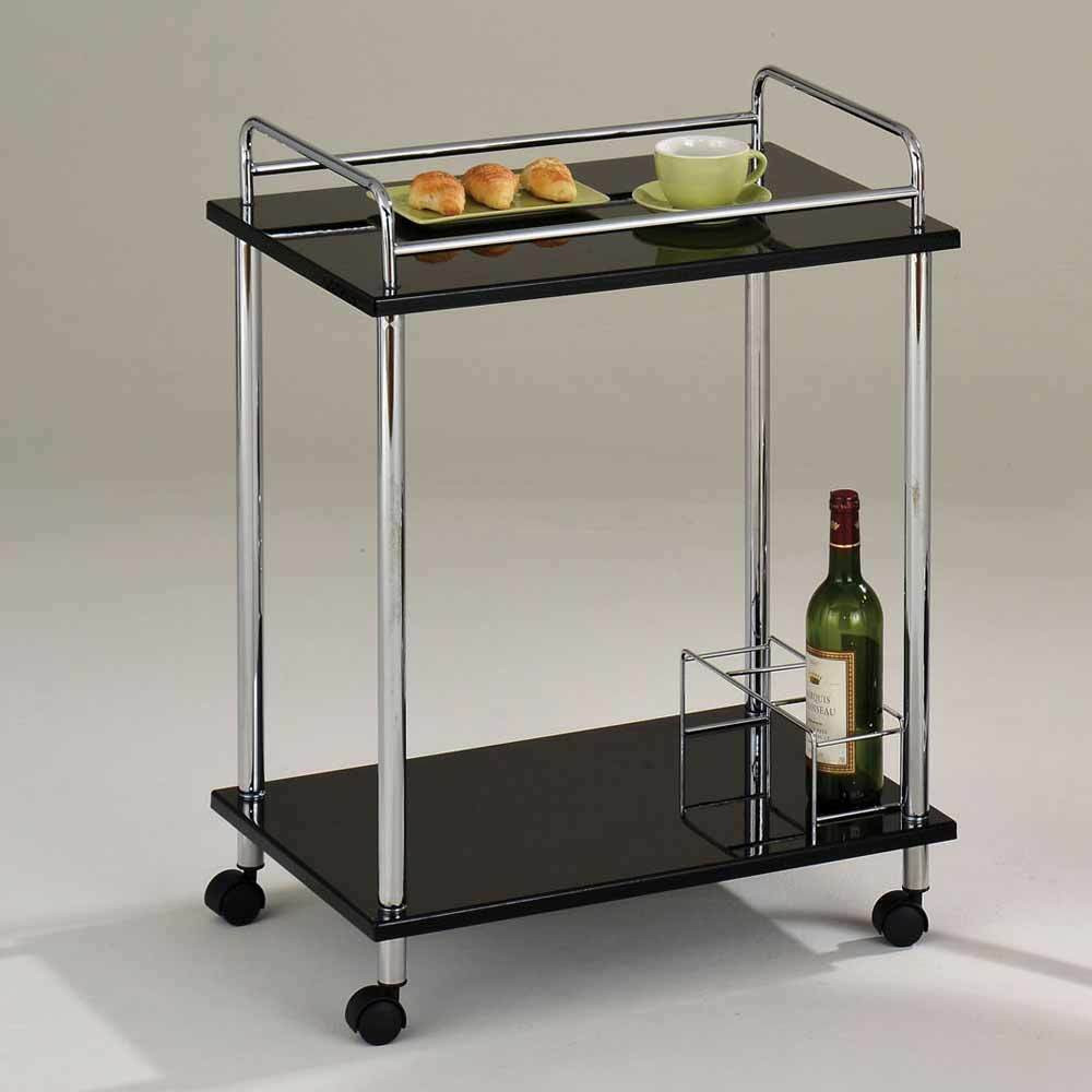 Best ideas about Kitchen Cart With Wine Rack . Save or Pin Fergus Kitchen Island Serving Cart Black Glass Shelves Now.
