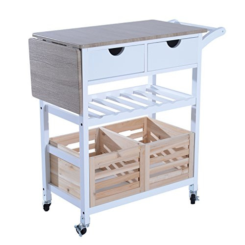 Best ideas about Kitchen Cart With Wine Rack . Save or Pin Kitchen Trolley Serving Island Cart Bar Cabinet Wood Now.