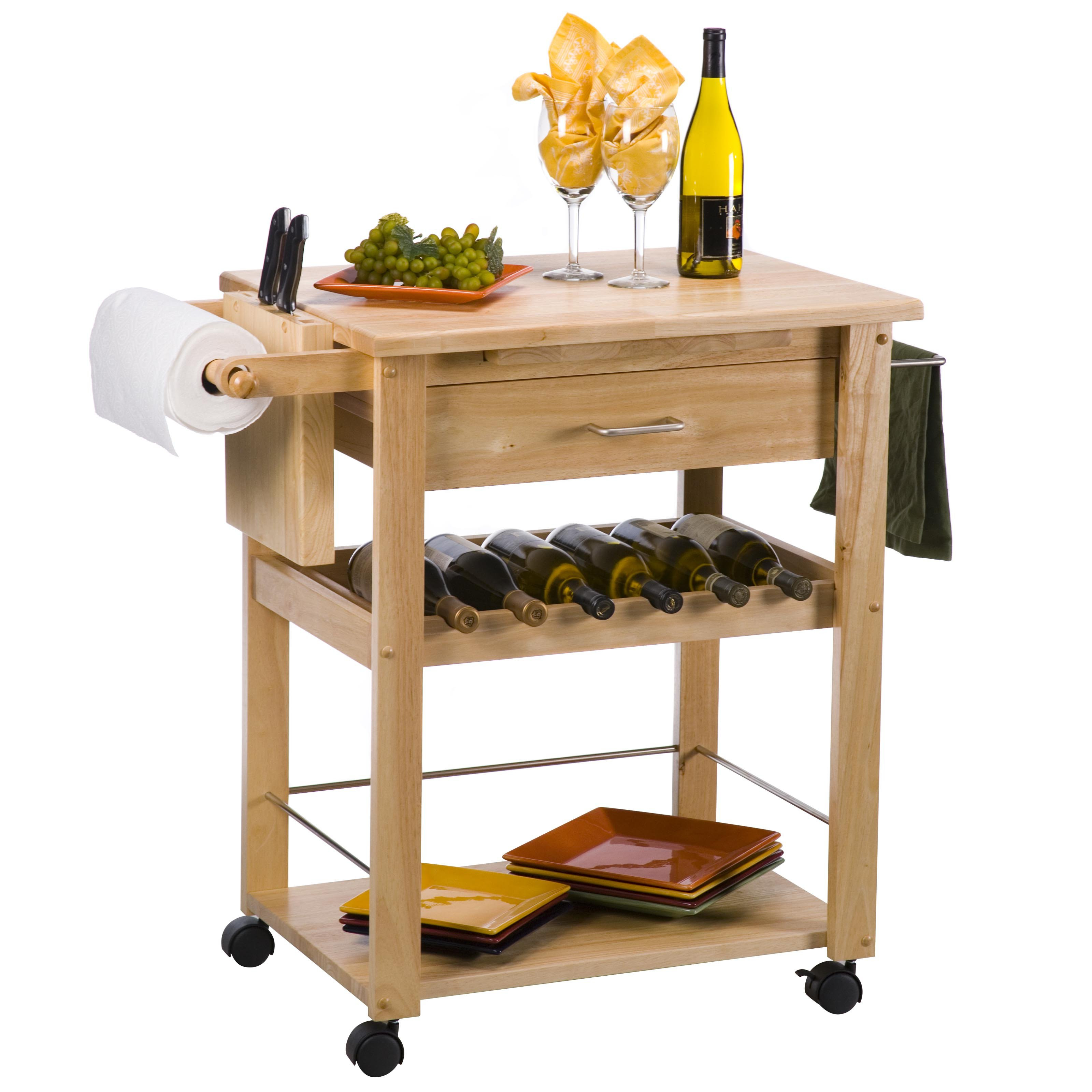 Best ideas about Kitchen Cart With Wine Rack . Save or Pin Gwendolyn Kitchen Cart Wine Rack at Hayneedle Now.