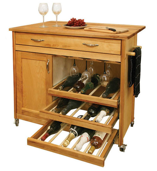 Best ideas about Kitchen Cart With Wine Rack . Save or Pin Wine Rack Kitchen Island in Kitchen Island Carts Now.