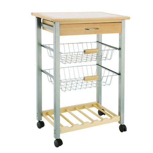 Best ideas about Kitchen Cart With Wine Rack . Save or Pin Neu Home Basket & Wine Rack Kitchen Cart Now.