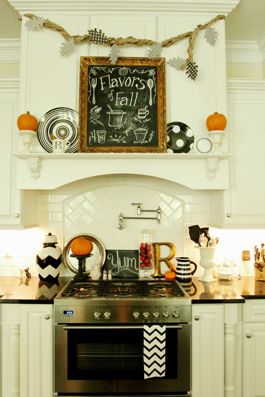 Best ideas about Kitchen Decorating Accessories . Save or Pin My Fall Kitchen Decor and a Free Fall Chalkboard Printable Now.