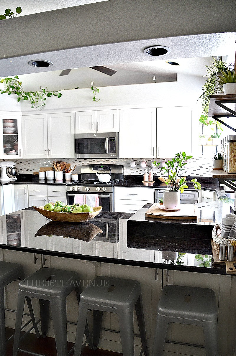 Best ideas about Kitchen Decorating Accessories . Save or Pin White Kitchen Pink Kitchen Decor The 36th AVENUE Now.