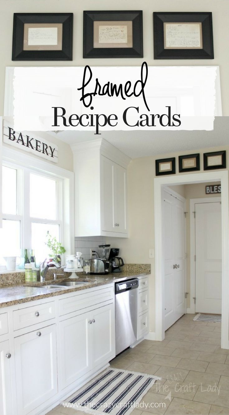 Best ideas about Kitchen Decorating Ideas For Walls . Save or Pin Framed Recipe Cards DIY Projects for the Home Now.