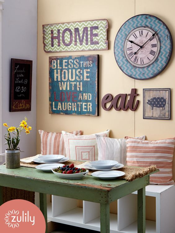Best ideas about Kitchen Decorating Ideas For Walls . Save or Pin 30 Eye Catchy Kitchen Wall Décor Ideas DigsDigs Now.