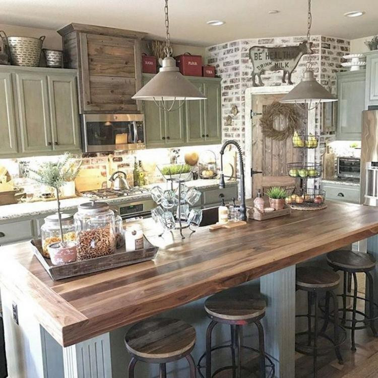 Best ideas about Kitchen Decorating Pinterest . Save or Pin 60 Gorgeous Farmhouse Kitchen Cabinet Makeover Ideas Now.