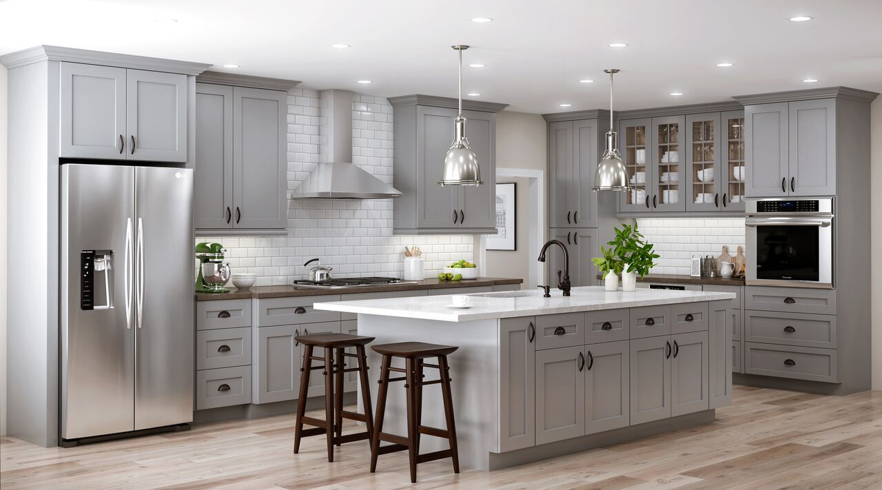 Best ideas about Kitchen Furniture Ideas . Save or Pin Tremont Base Cabinets in Pearl Gray – Kitchen – The Home Depot Now.
