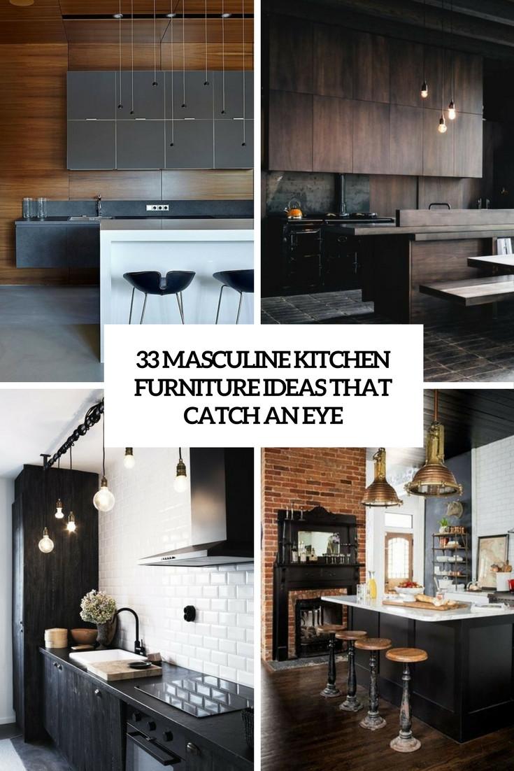 Best ideas about Kitchen Furniture Ideas . Save or Pin 33 Masculine Kitchen Furniture Ideas That Catch An Eye Now.