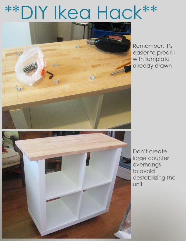 Best ideas about Kitchen Hacks DIY . Save or Pin DIY Ikea Hack Kitchen Island Tutorial Construction 2 Now.