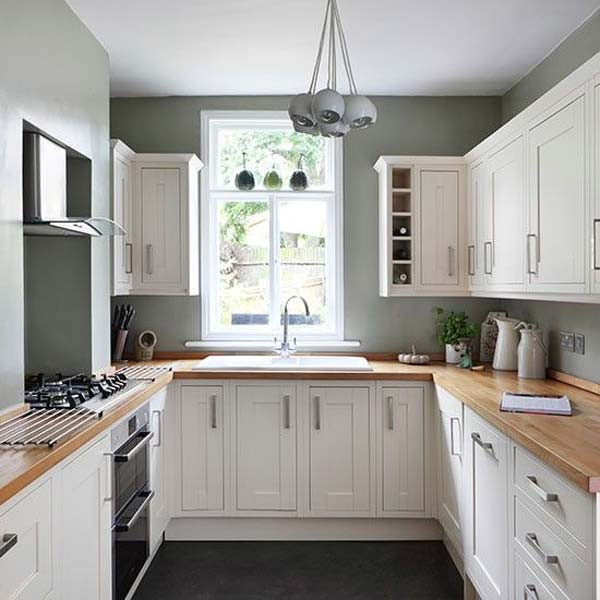 Best ideas about Kitchen Ideas For Small Spaces . Save or Pin 19 Practical U Shaped Kitchen Designs for Small Spaces Now.