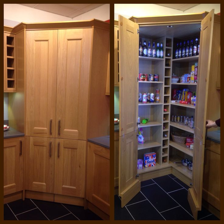 Best ideas about Kitchen Pantry Cabinets Ikea . Save or Pin Concealed walk in pantry with LED lights This would be Now.