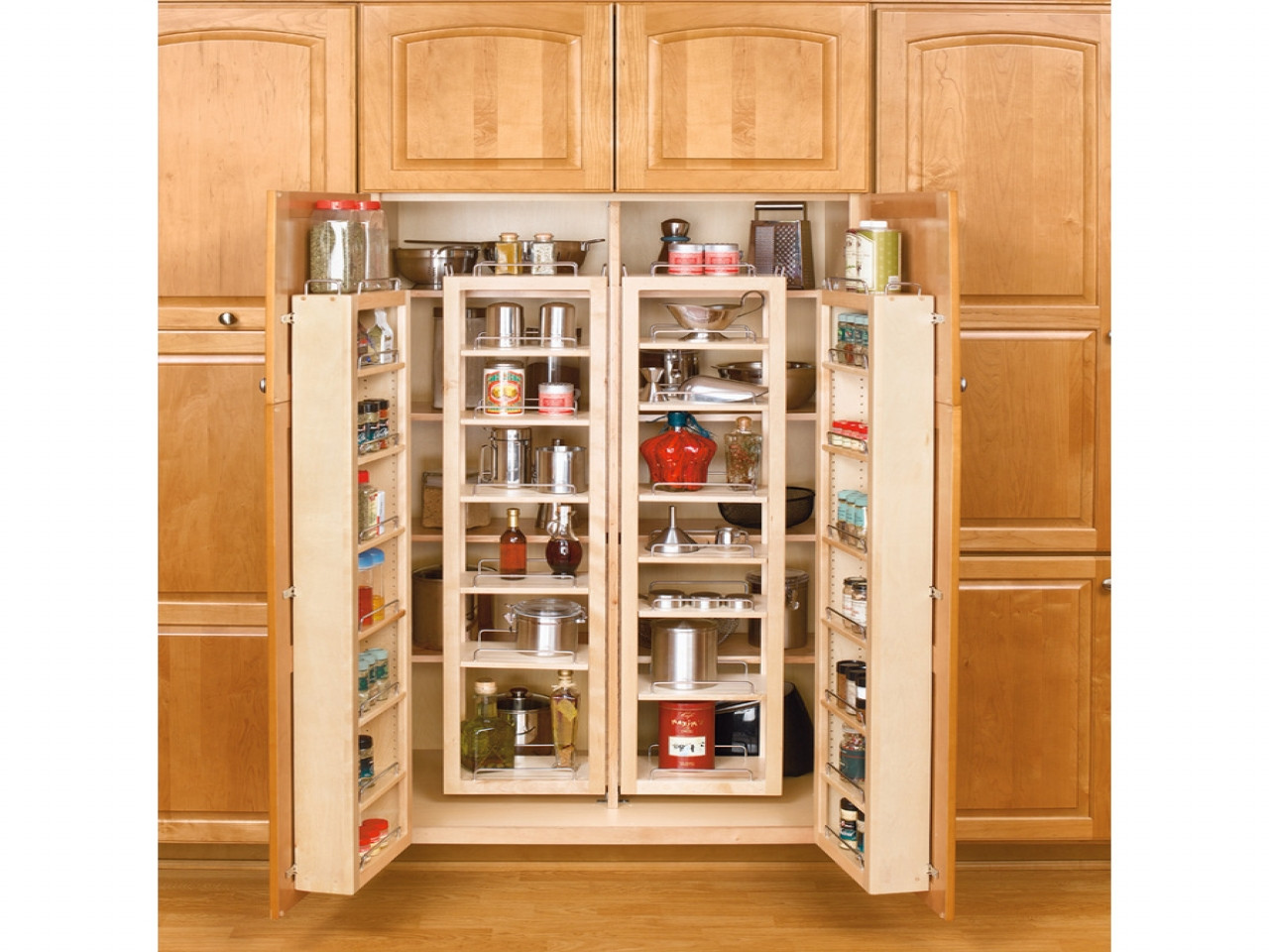 Best ideas about Kitchen Pantry Cabinets Ikea . Save or Pin Wooden shelves with doors tall kitchen pantry cabinet Now.