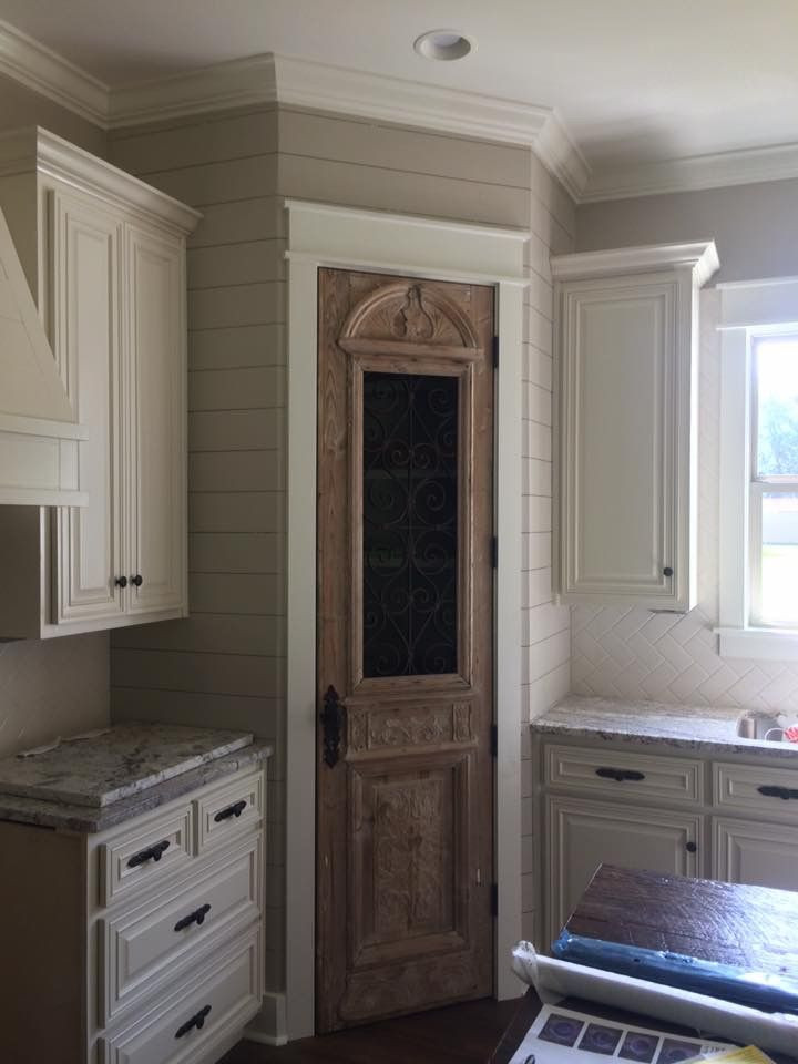 Best ideas about Kitchen Pantry Doors . Save or Pin Antique pantry door and shiplap … Now.