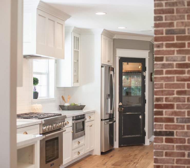 Best ideas about Kitchen Pantry Doors . Save or Pin Black Pantry Door Cottage kitchen Rafterhouse Now.