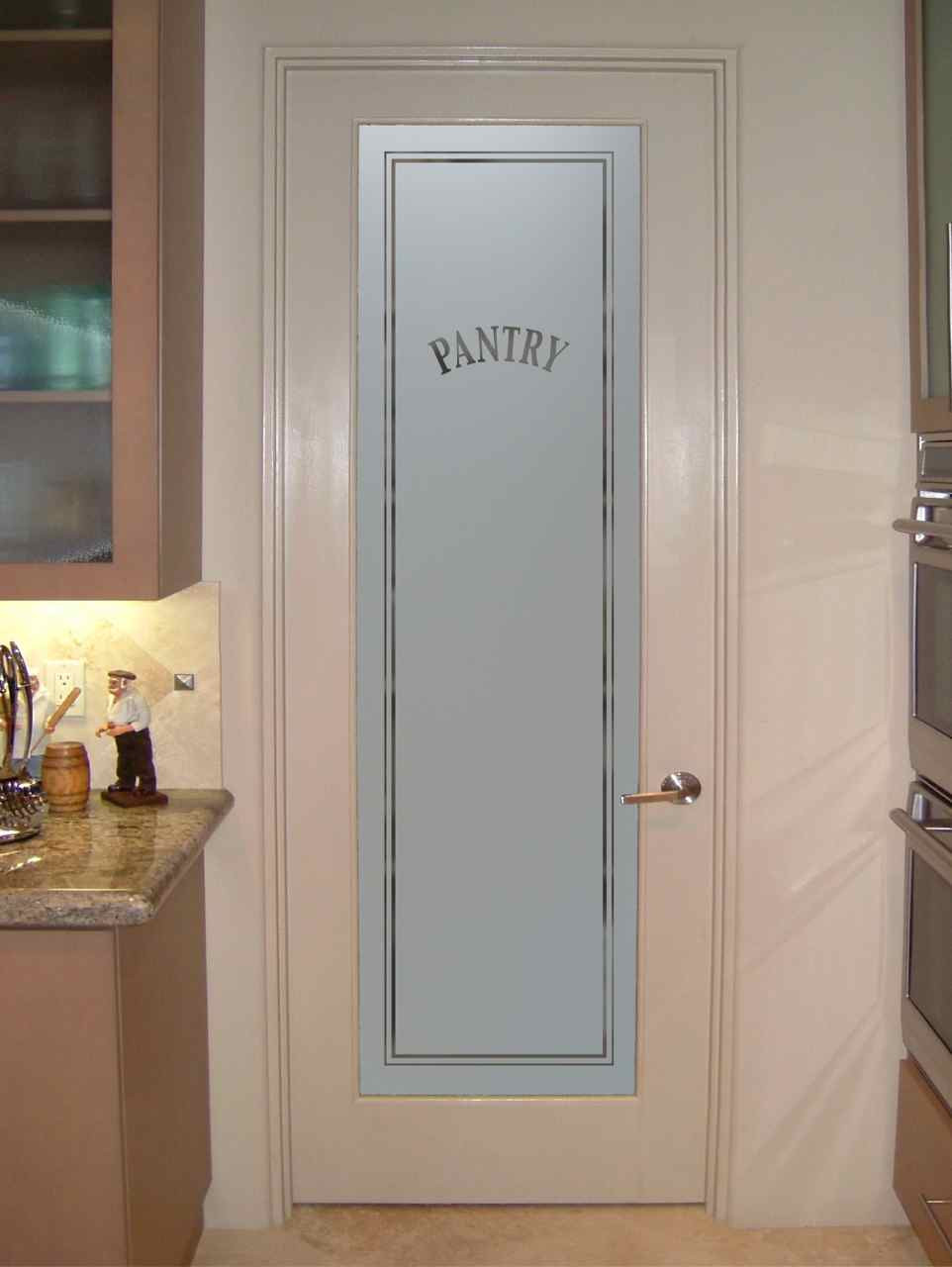 Best ideas about Kitchen Pantry Doors . Save or Pin frosted glass pantry door Sans Soucie Art Glass Now.