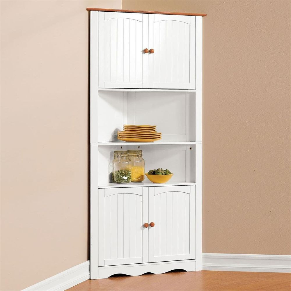 Best ideas about Kitchen Pantry Furniture . Save or Pin Corner Cabinet Pantry Cupboard Home Kitchen Dining Wine Now.