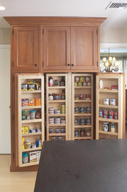 Best ideas about Kitchen Pantry Furniture . Save or Pin Interior of large pantry cabinet Eclectic Kitchen Now.
