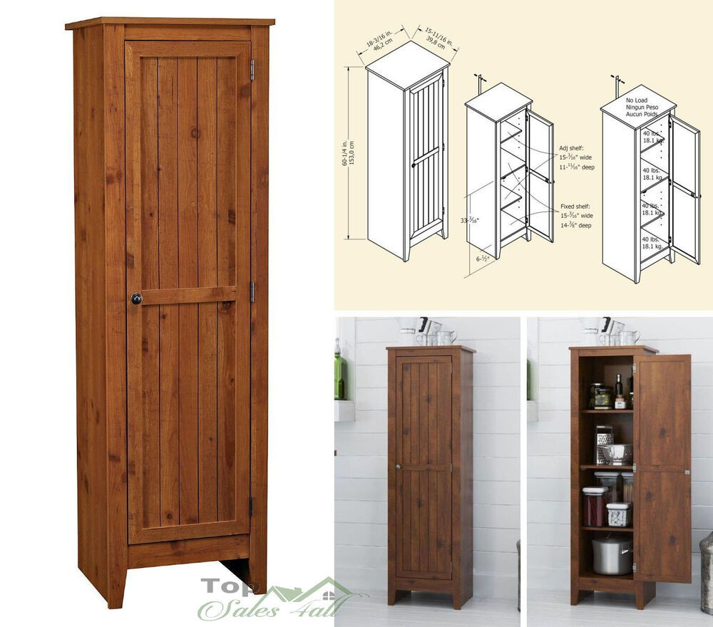 Best ideas about Kitchen Pantry Furniture . Save or Pin Kitchen Pantry Cabinet Storage Organizer Wood Shelves Now.