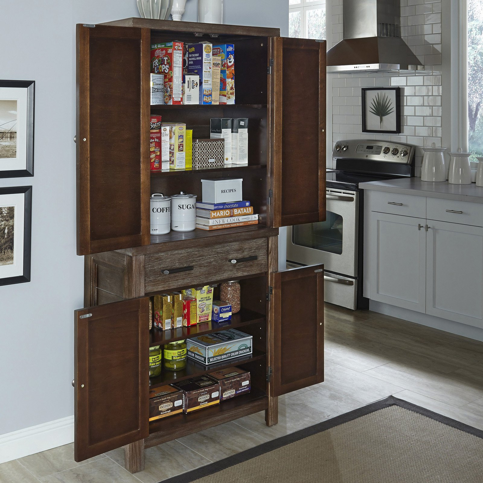 Best ideas about Kitchen Pantry Furniture . Save or Pin Home Styles Barnside Pantry Pantry Cabinets at Hayneedle Now.