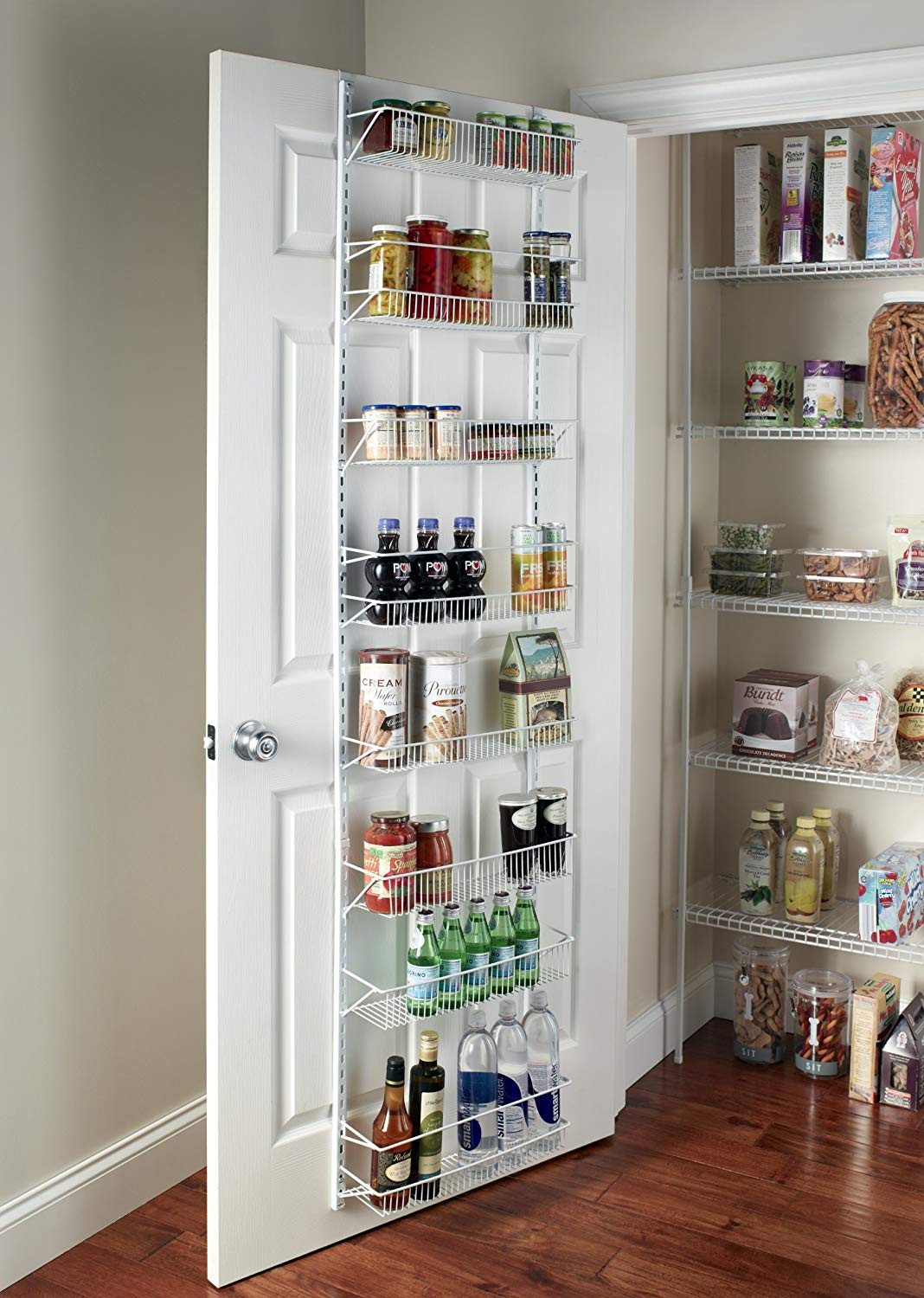 Best ideas about Kitchen Pantry Shelving . Save or Pin Wall Rack Closet Organizer Pantry Adjustable Floating Now.