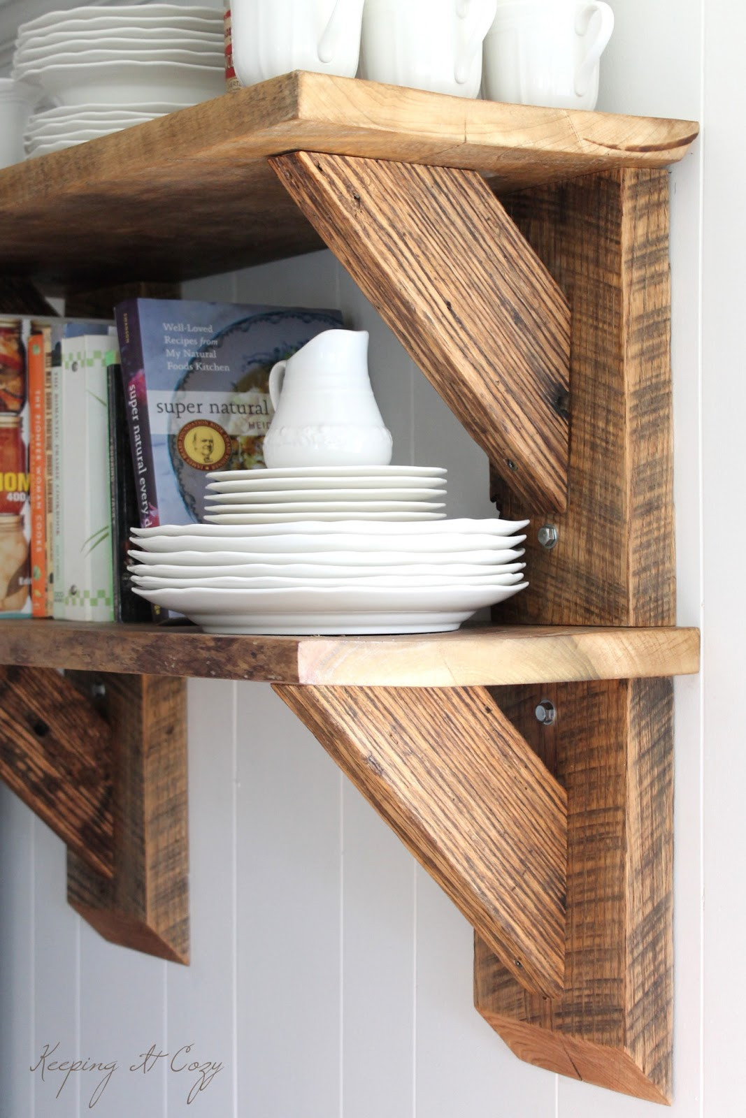 Best ideas about Kitchen Shelves DIY . Save or Pin Keeping It Cozy Reclaimed Wood Kitchen Shelves Now.