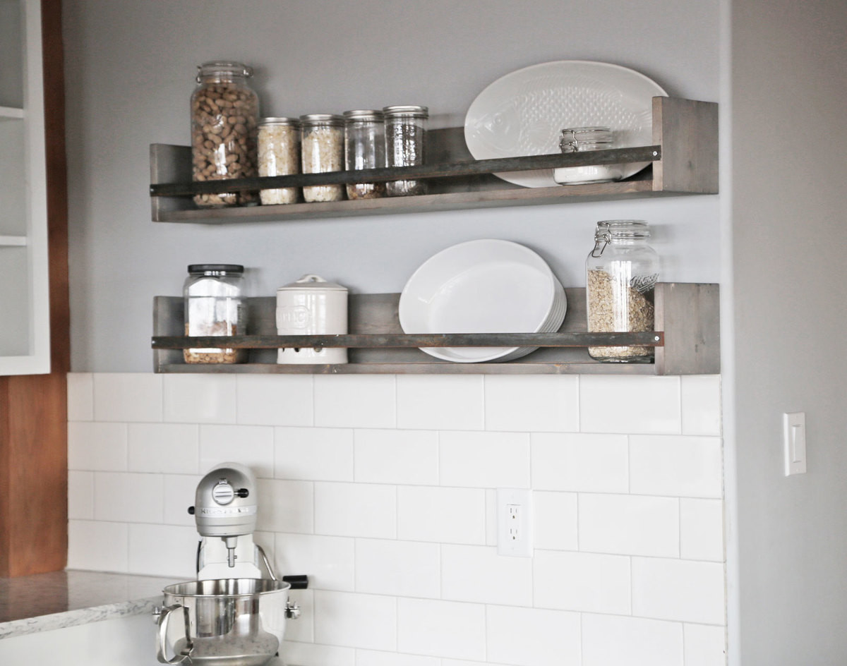 Best ideas about Kitchen Shelves DIY . Save or Pin Modern Farmhouse Kitchen Almost Done Now.