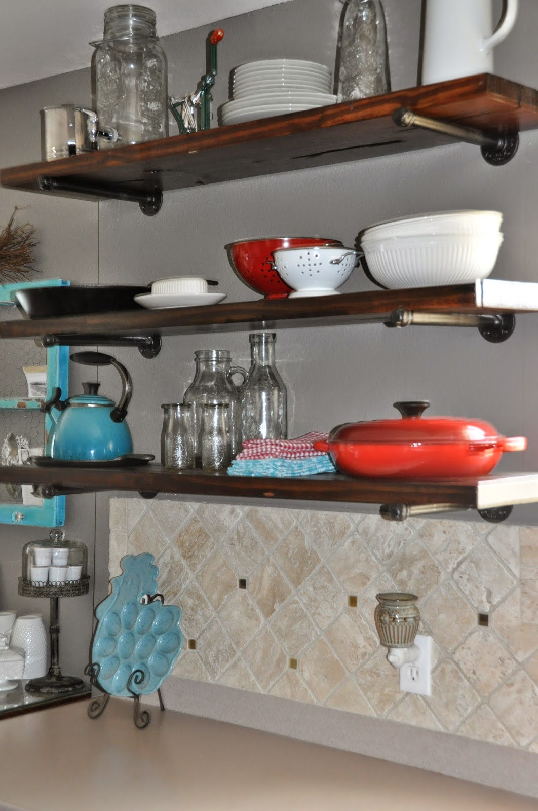 Best ideas about Kitchen Shelves DIY . Save or Pin Right Where We Are DIY Kitchen Shelves Now.