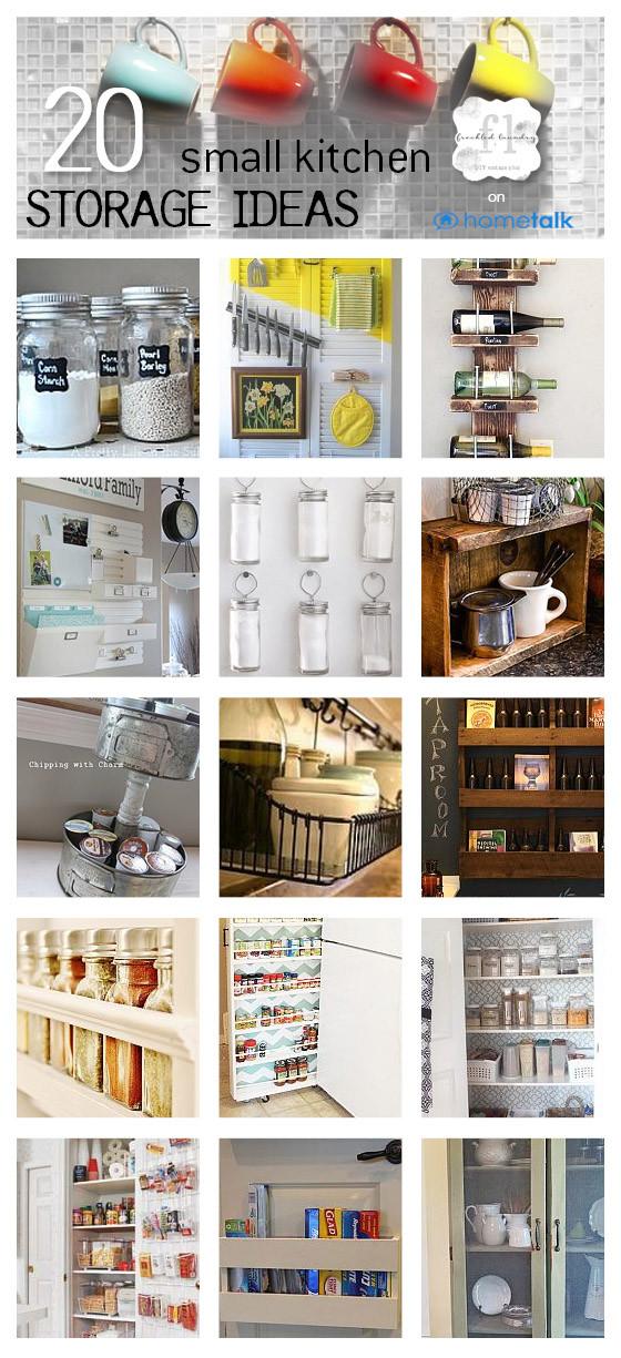 Best ideas about Kitchen Storage Ideas For Small Kitchens . Save or Pin 20 small kitchen storage ideas Now.