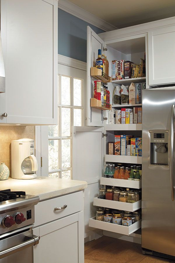 Best ideas about Kitchen Storage Ideas For Small Kitchens . Save or Pin 25 best ideas about Small kitchen pantry on Pinterest Now.
