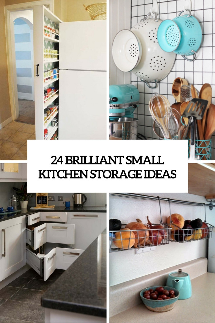 Best ideas about Kitchen Storage Ideas For Small Kitchens . Save or Pin 24 Creative Small Kitchen Storage Ideas Shelterness Now.