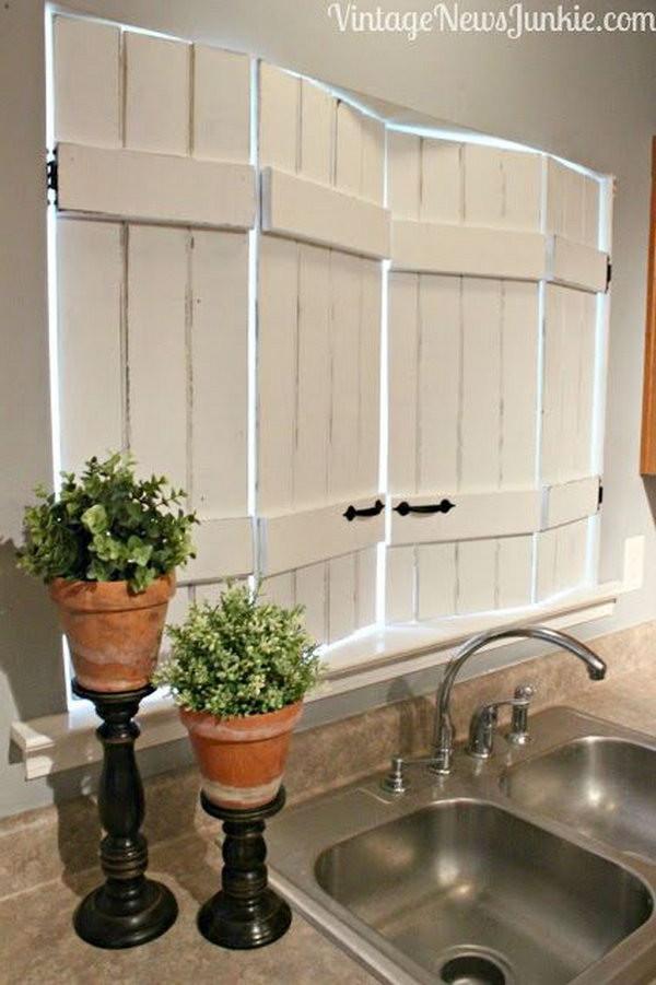 Best ideas about Kitchen Window Treatments DIY . Save or Pin Creative Kitchen Window Treatment Ideas Hative Now.