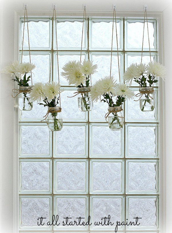 Best ideas about Kitchen Window Treatments DIY . Save or Pin mason jar window treatment It All Started With Paint Now.