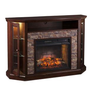 Best ideas about Kmart Fireplace Tv Stand . Save or Pin Southern Enterprises Redden Corner Electric Fireplace TV Stand Now.