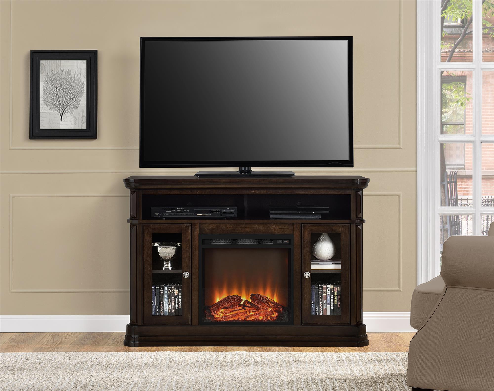 Best ideas about Kmart Fireplace Tv Stand . Save or Pin Dorel Home Furnishings Brooklyn Fireplace TV Stand Now.