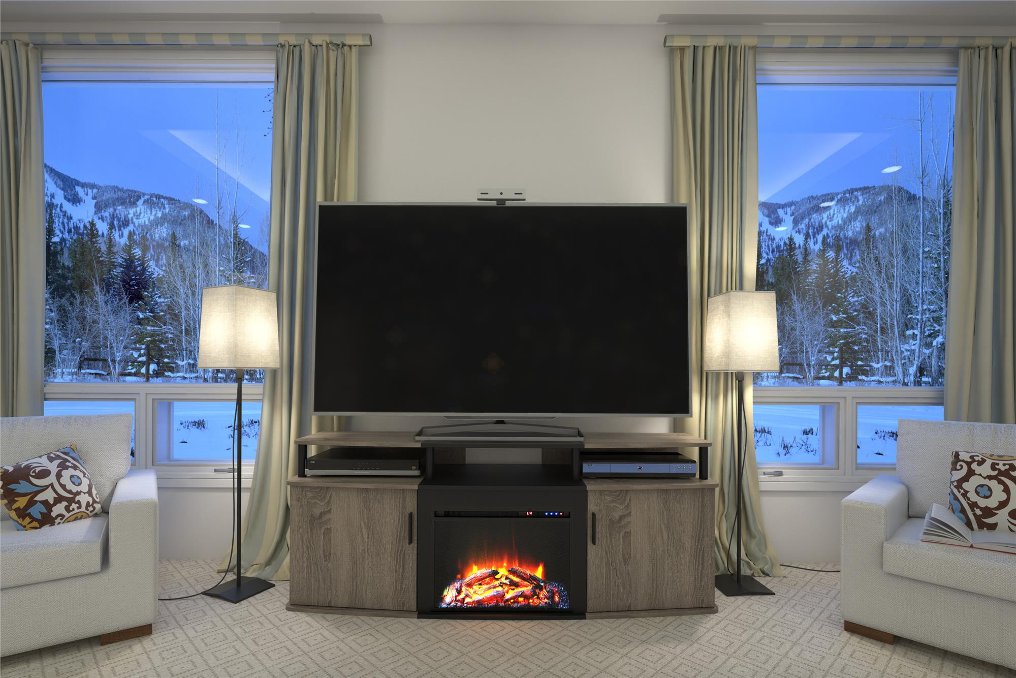 Best ideas about Kmart Fireplace Tv Stand . Save or Pin Dorel Home Furnishings Carson Fireplace TV Stand Multiple Now.