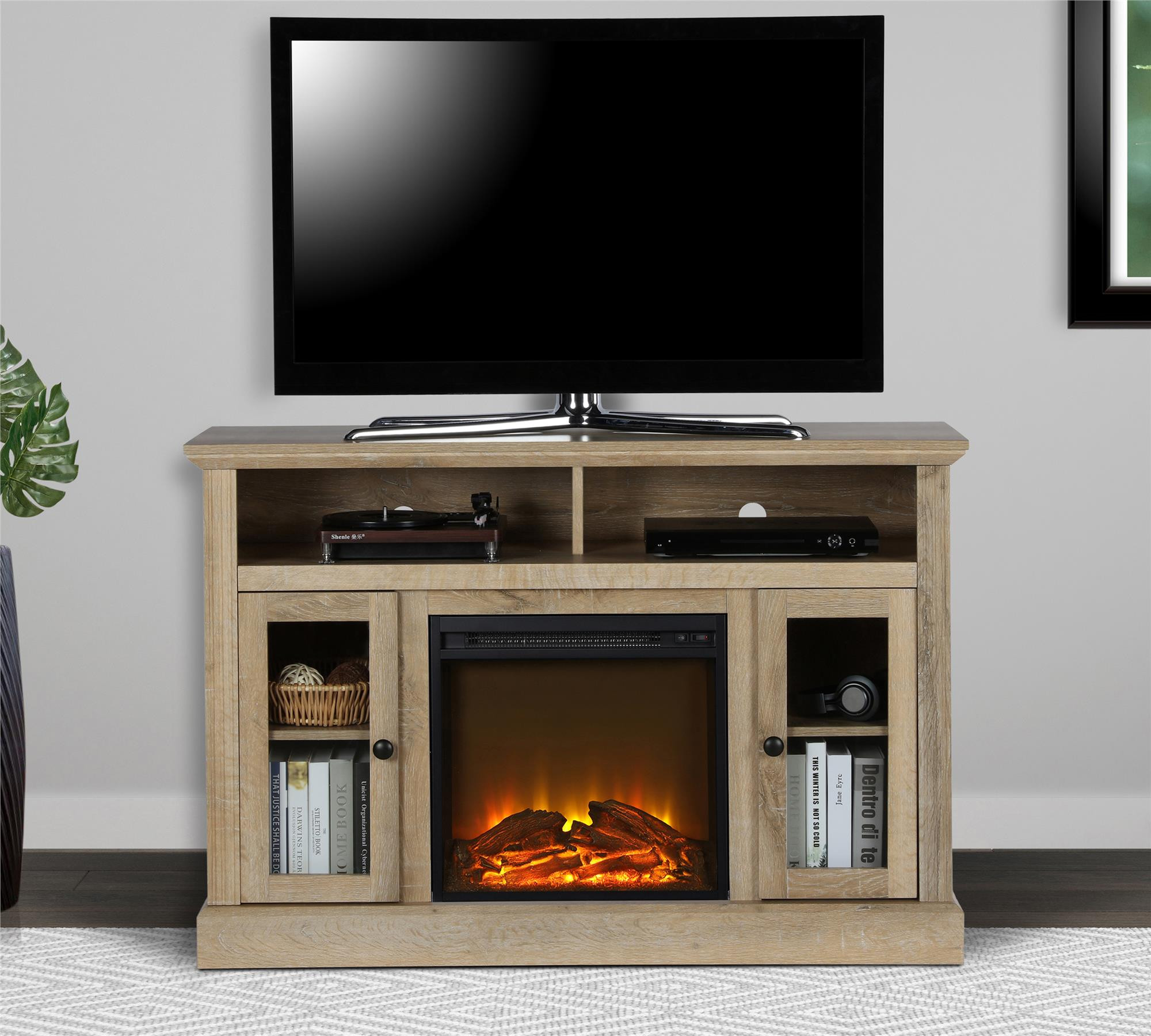 Best ideas about Kmart Fireplace Tv Stand . Save or Pin Dorel Home Furnishings Chicago Natural Electric Fireplace Now.