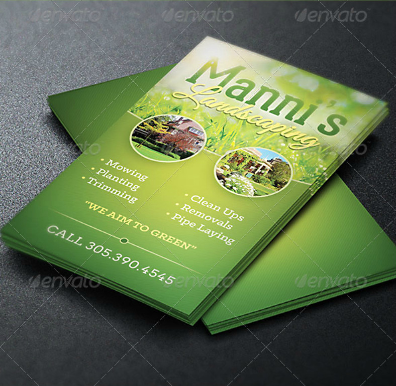 Best ideas about Landscape Business Cards . Save or Pin 14 Landscaping Business Card Designs & Templates PSD Now.