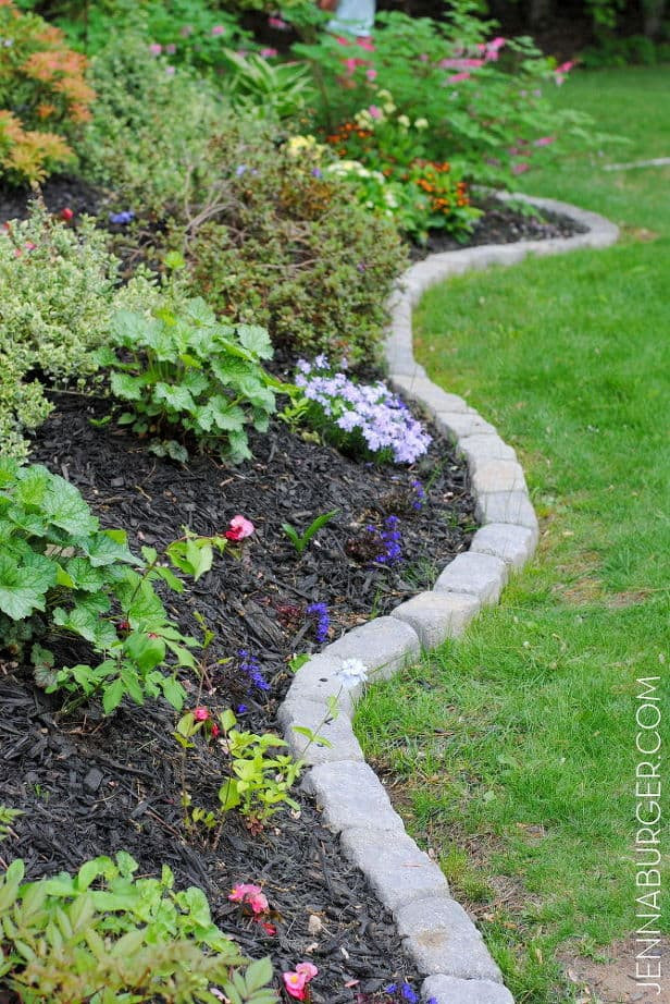 Best ideas about Landscape Edging Stones . Save or Pin 17 Simple and Cheap Garden Edging Ideas For Your Garden Now.